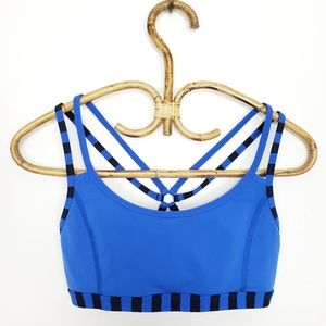 Lululemon Centered Energy Bra Baroque Blue Size 6